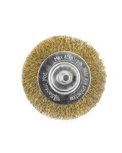 """Carda circular 2"""" para taladro, acero latonado"""