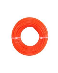 Hilo naranja para desbrozadora 2.4mm, 12m