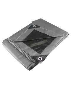Lona uso pesado gris 1.5 x 2 m