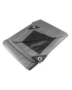 Lona uso pesado gris 4 x 4 m