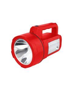 Linterna reflecora recargable con 1 super led y luz lateral