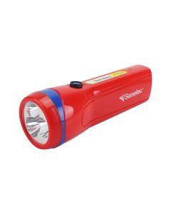 Linterna recargable roja con 3 leds