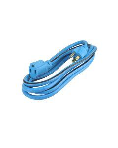 Extensión azul 3 conductores 2m