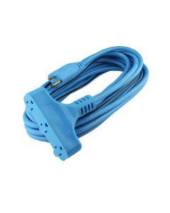 Extensión azul power block 3 conductores 7m