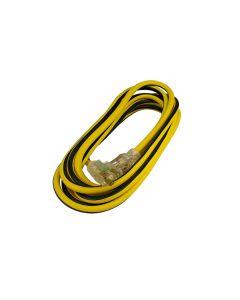 Extensión amarilla 3 conductores, 4m