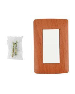 Apagador sencillo wooden con placa