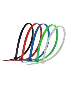 Cincho plástico de varios colores 2.5 x 100 mm 100 pz