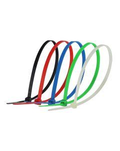 Cincho plástico de varios colores 4.8 x 300mm 50 pz