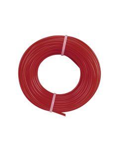 Hilo rojo para desbrozadora 2.7mm, 12m